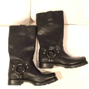 Frye boots - harness boots - black - size 6 1/2